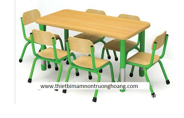 Bàn học gỗ cho trẻ em mầm non mẫu giáo tiểu học