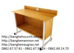 bàn lab giáo viên gỗ công nghiệp