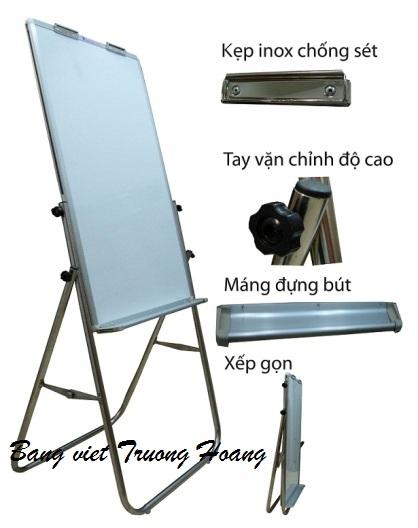 Bảng kẹp giấy flipchart 2 xoay mặt (Hai mặt từ trắng Việt Nam KT 700*1000mm)