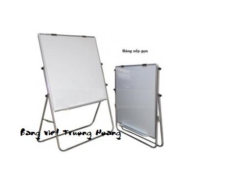 Bảng kẹp giấy flipchart xoay 2 mặt (Từ trắng hàn quốc + mặt trắng hít từ)