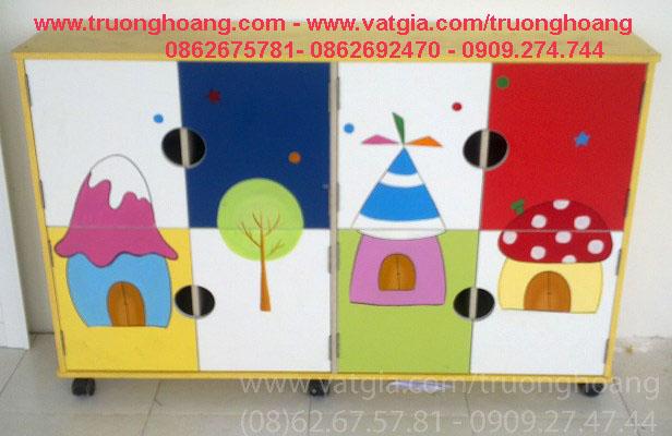 Kệ tủ mầm non đựng chăn màn chiếu gối TH-KCCG01