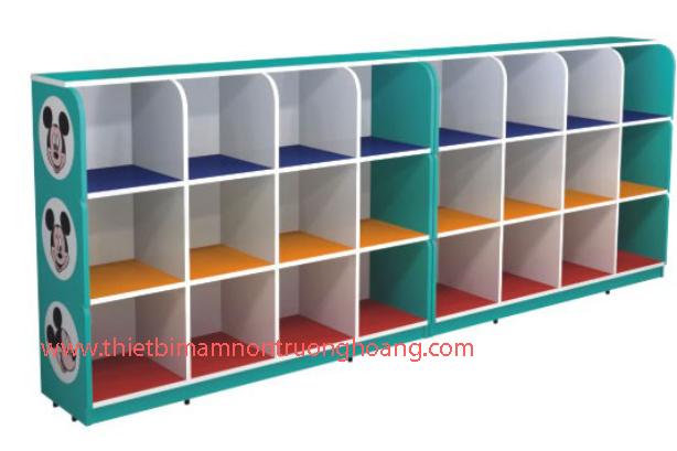 Kệ tủ mầm non đựng đồ cá nhân nhiều ngăn