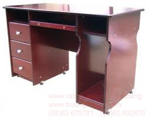 Bàn ghế máy vi tính gỗ tư nhiên 01